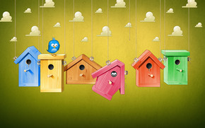 Cute Bird Houses wallpaper