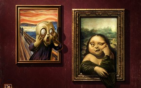 Parodies of Famous Paintings wallpaper