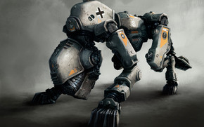 Robot from Wolfenstein The New Order wallpaper