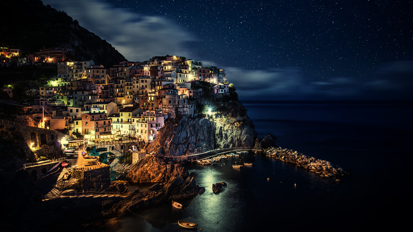 Manarola Night wallpaper