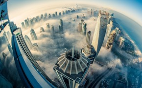 Dubai Above the Clouds wallpaper
