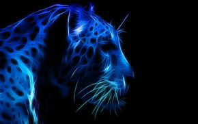 Leopard Profile Face wallpaper
