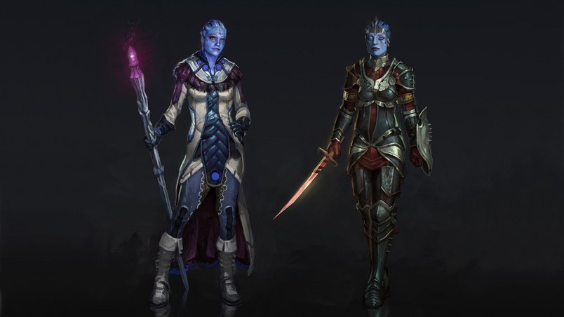 Mass Effect Samara and Liara wallpaper