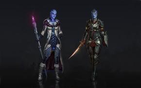 Mass Effect Samara and Liara