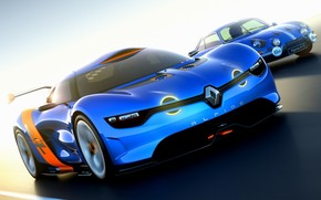 Blue Renault Alpine wallpaper