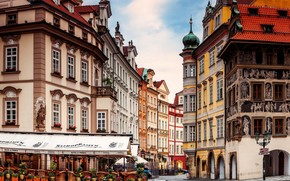 Prague Street Corner wallpaper