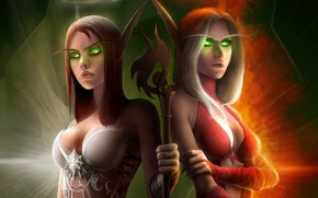 World of Warcraft Elf Costumes wallpaper
