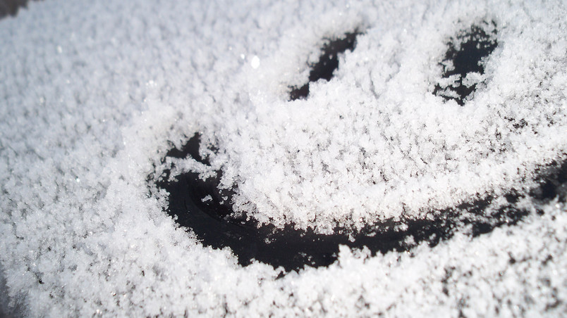 Smile Snow Face wallpaper