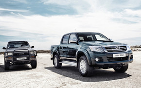 Toyota Hilux Old vs New wallpaper