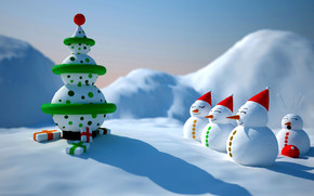 Snowman Christmas wallpaper