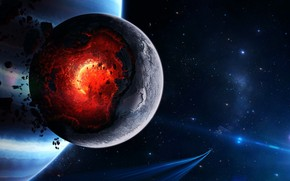 Space Planet Disaster wallpaper