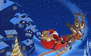 Santa Clause Flying