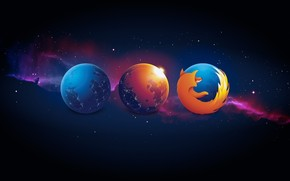 Firefox Planet wallpaper