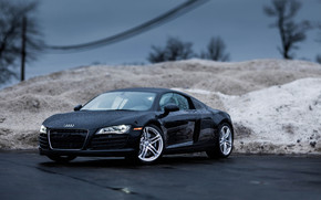 Rainy Audi R8 wallpaper