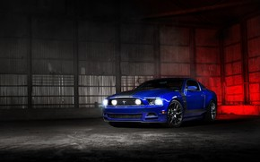 Cool Blue Ford Mustang wallpaper