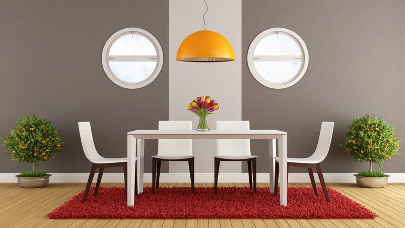 Modern Dining Area HD Wallpaper - WallpaperFX