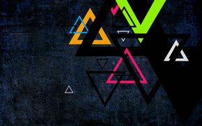 Colorful Triangles wallpaper