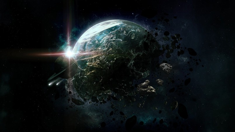 Fantasy Space View wallpaper