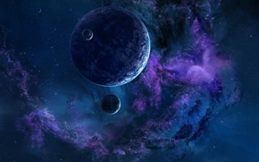 The Purple Space wallpaper