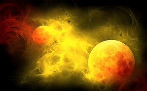 Fire Planets wallpaper