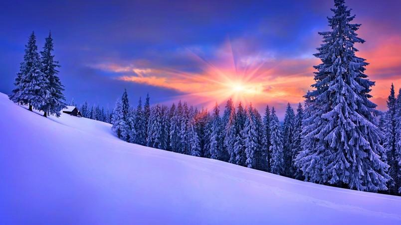 Late winter sunset hd wallpaper wallpaperfx late winter sunset wallpaper voltagebd Choice Image