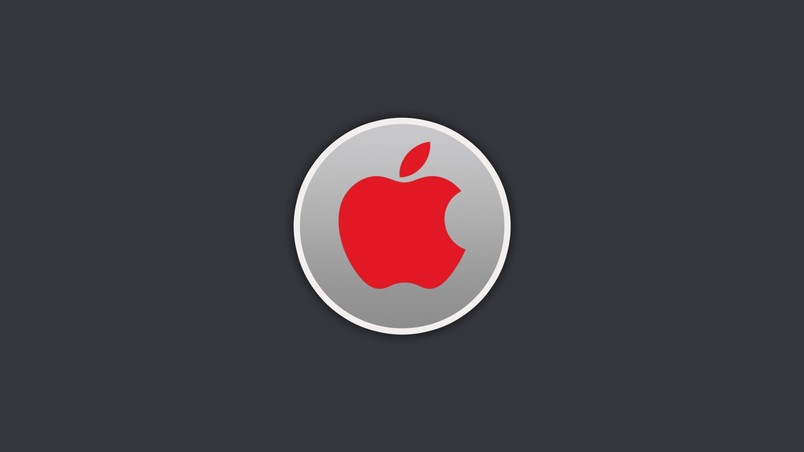Red Apple Logo Hd Wallpaper Wallpaperfx
