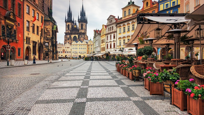 Prague city center hd wallpaper wallpaperfx for Prague center
