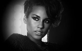 Alicia Keys Black and White wallpaper