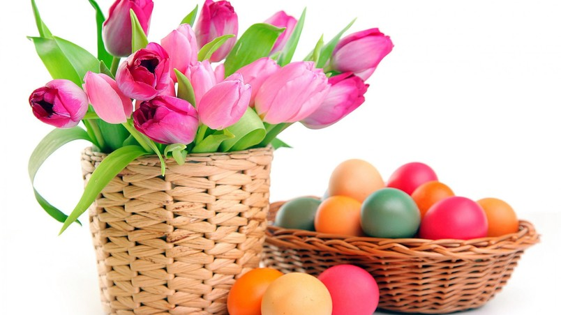 2014 Colourful Easter Eggs wallpaper