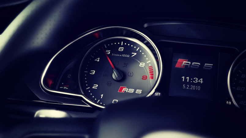 Audi RS5 Dashboard wallpaper