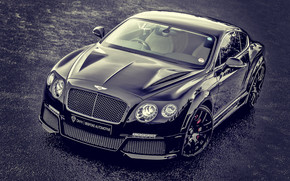 Bentley Continental Black Tuned wallpaper