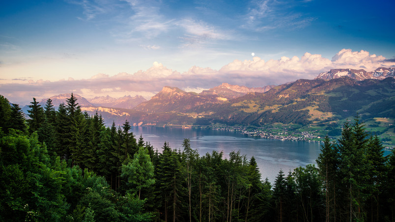 Lake Zurich Landscape wallpaper