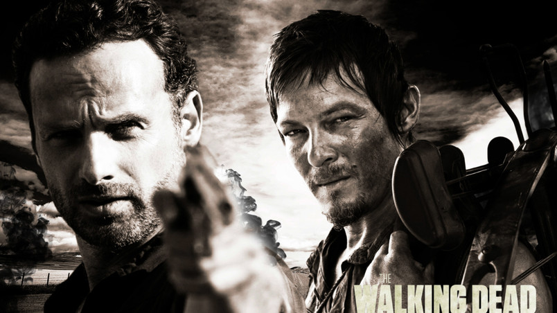 Rick And Daryl The Walking Dead Wallpaper