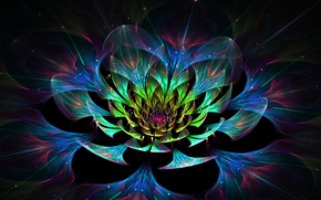 3D Lotus Flower wallpaper
