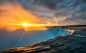 Niagara Sunrise Time wallpaper
