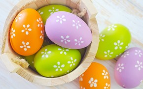 Beautiful 2014 Easter Eggs wallpaper