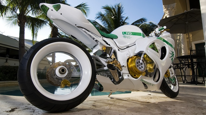Awesome White Motorcycle Hd Wallpaper Wallpaperfx