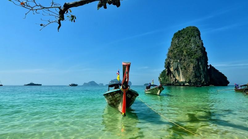 Railay Beach Thailand Hd Wallpaper Wallpaperfx