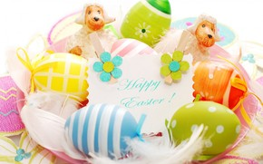 2014 Happy Easter Decorations wallpaper
