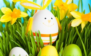 2014 Smiling Easter Egg wallpaper