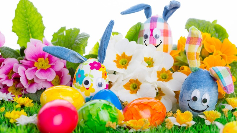 Handcrafted Easter Eggs wallpaper