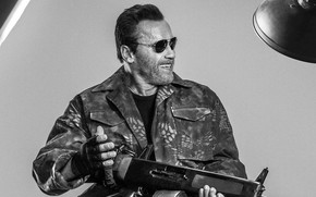 Arnold Schwarzenegger The Expendables 3 wallpaper