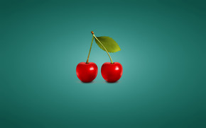 Minimalistic Cherries wallpaper