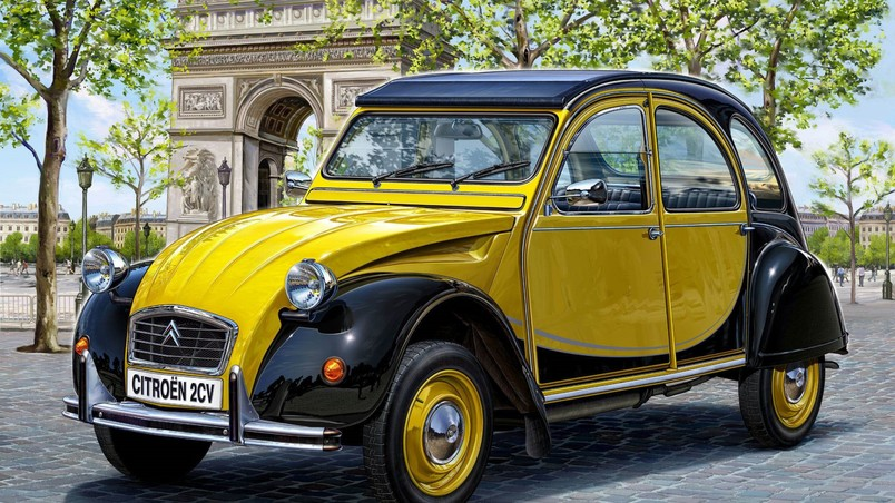 superb citroen 2cv hd wallpaper