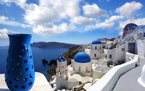 Ideal View from Santorini wallpaper