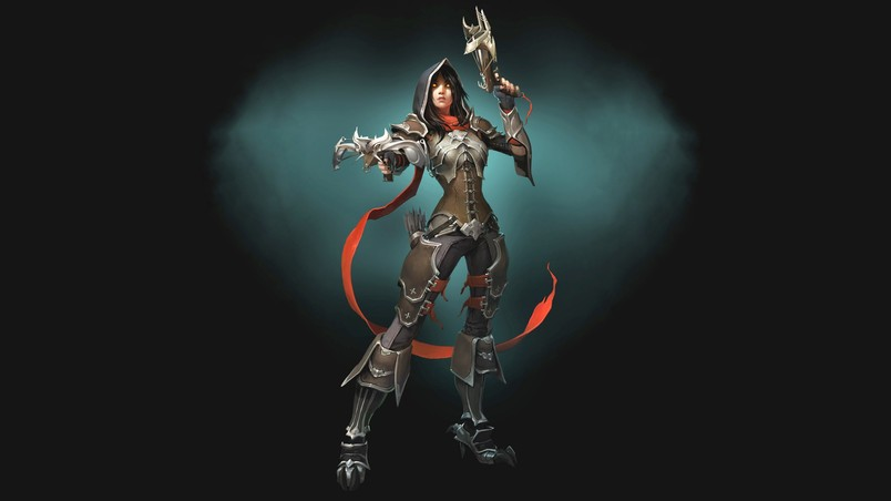 Demon Hunter Diablo 3 HD Wallpaper - WallpaperFX