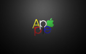 Apple Text Logo wallpaper
