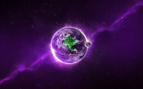 Purple Space Planet wallpaper
