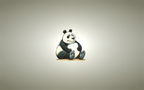Fat Panda Bear wallpaper