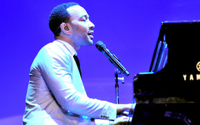 John Legend at Piano wallpaper